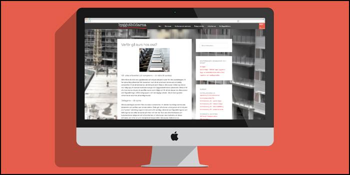 Kurserna samlade på Byggutbildarnas webbplats